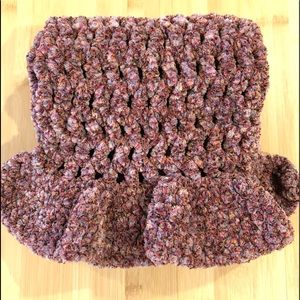 Accessories - Hand Crocheted Scarf with Frilly Ends
